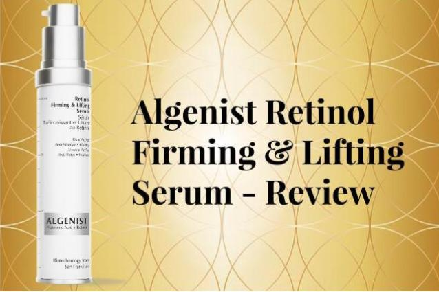Algenist retinol firming and lifting serum