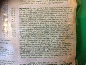 Bioglan superfoods ingredients