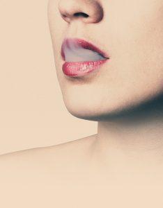Smoking causes wrinkles above the lip